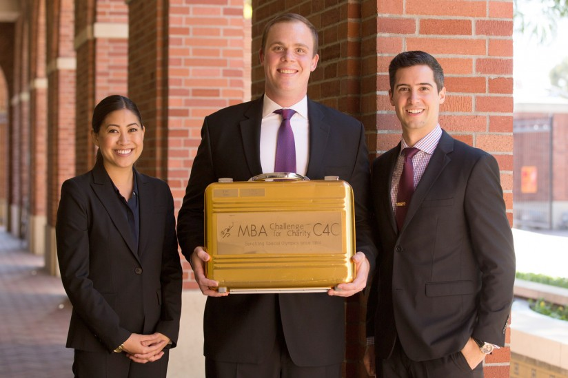 MBA students winning a president's award