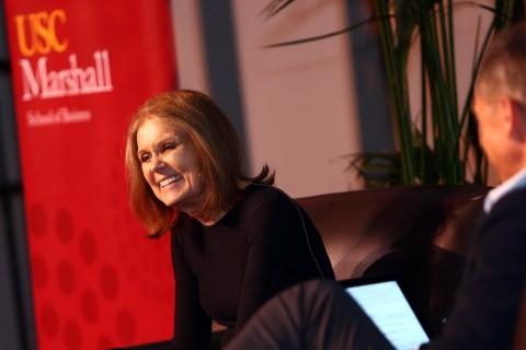 Gloria Steinem at Bovard