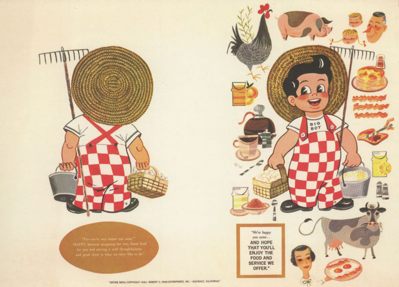 Bob's Big Boy Menu Template