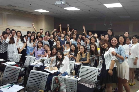 Kristen Zaleksi's class in China