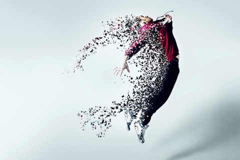 dancer dissolves into particles