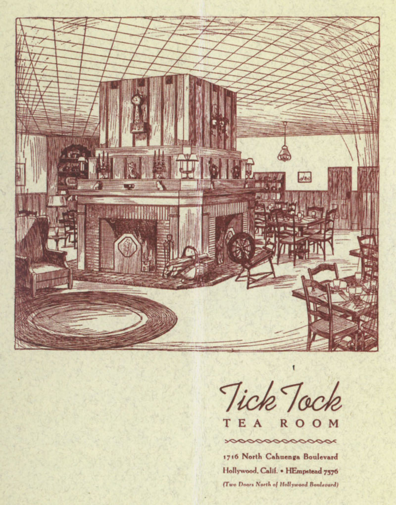 Tick Tock Tea Room menu cover