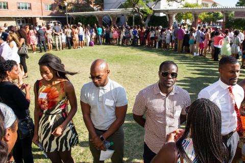 Black Alumni Association pin ceremony