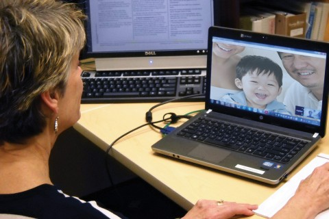 Families in the study can engage in real-time Web conferencing to receive services using a new pilot program through Parents as Teachers and the USC School of Social Work.