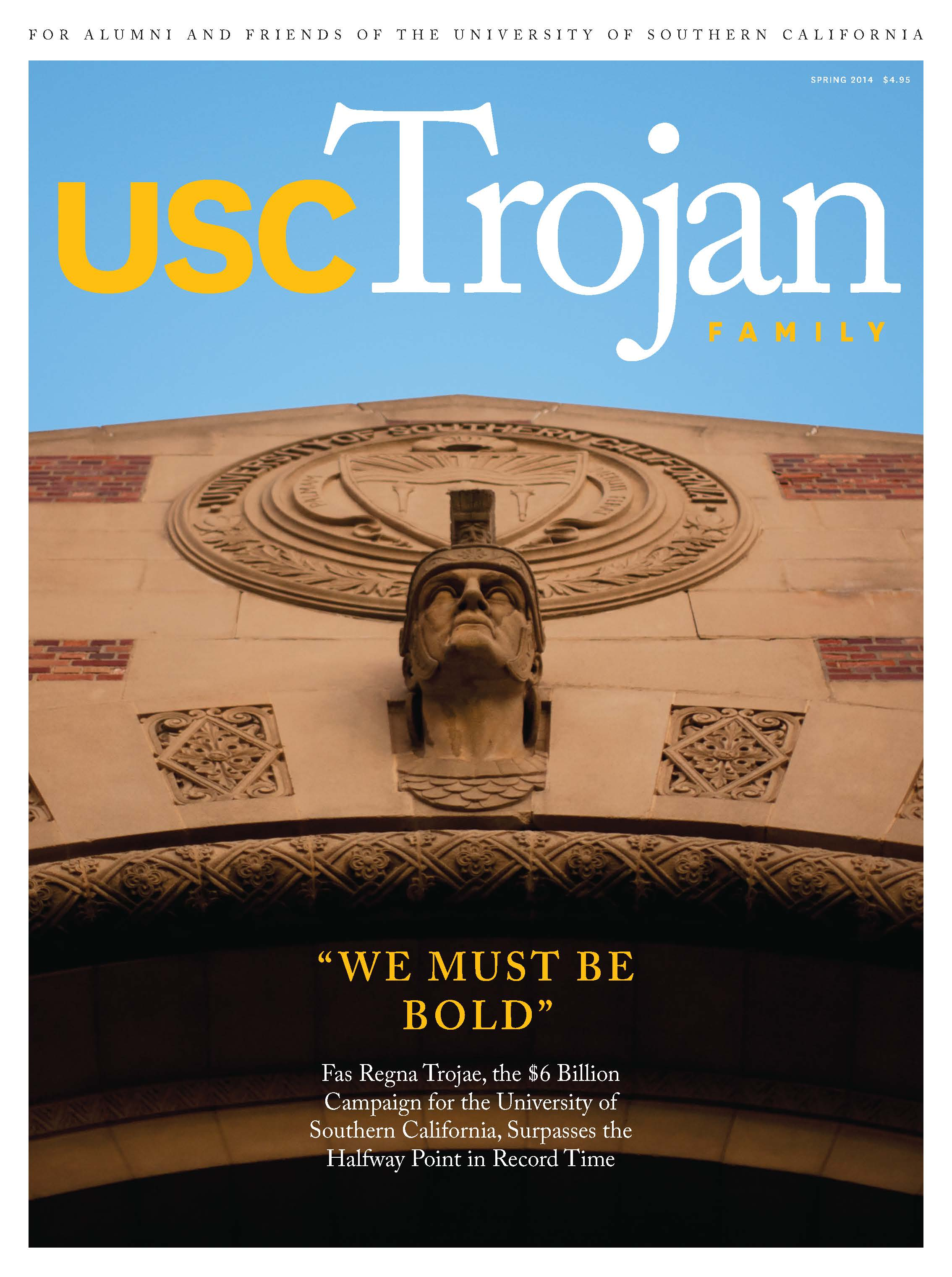 Spring 2014 Trojan Family Magazine cover