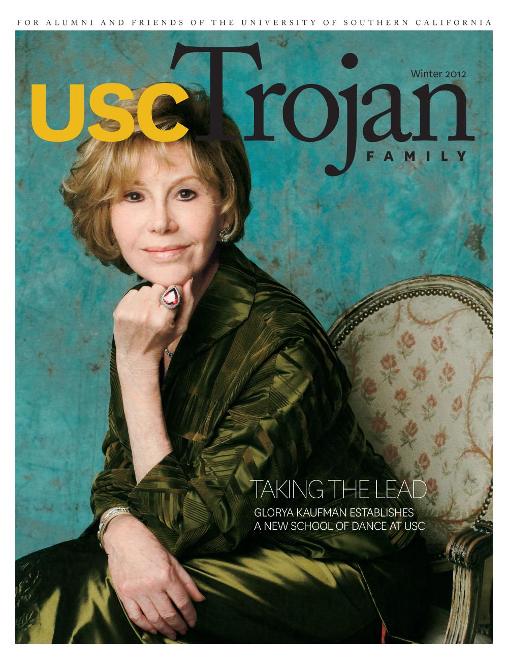 Winter 2012 Trojan Family Magazine cover