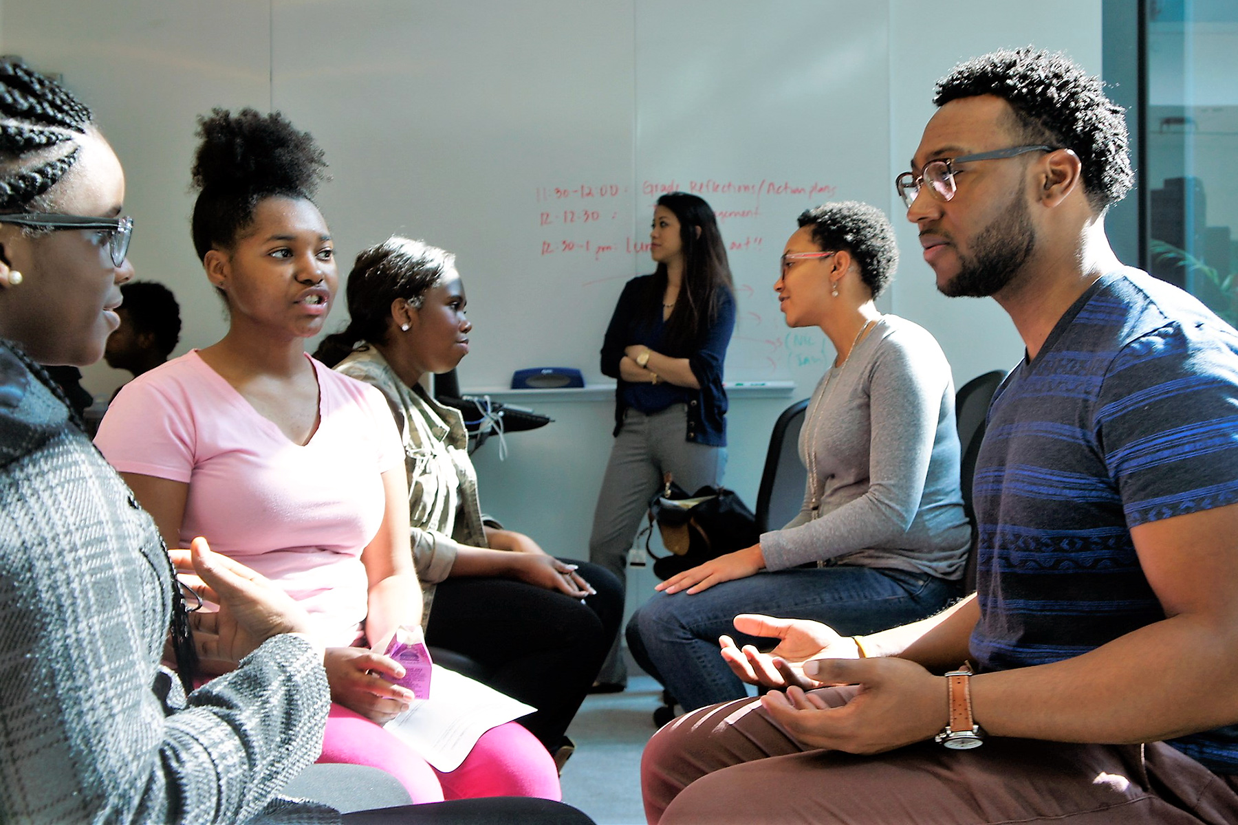 MERIT students meet with mentors