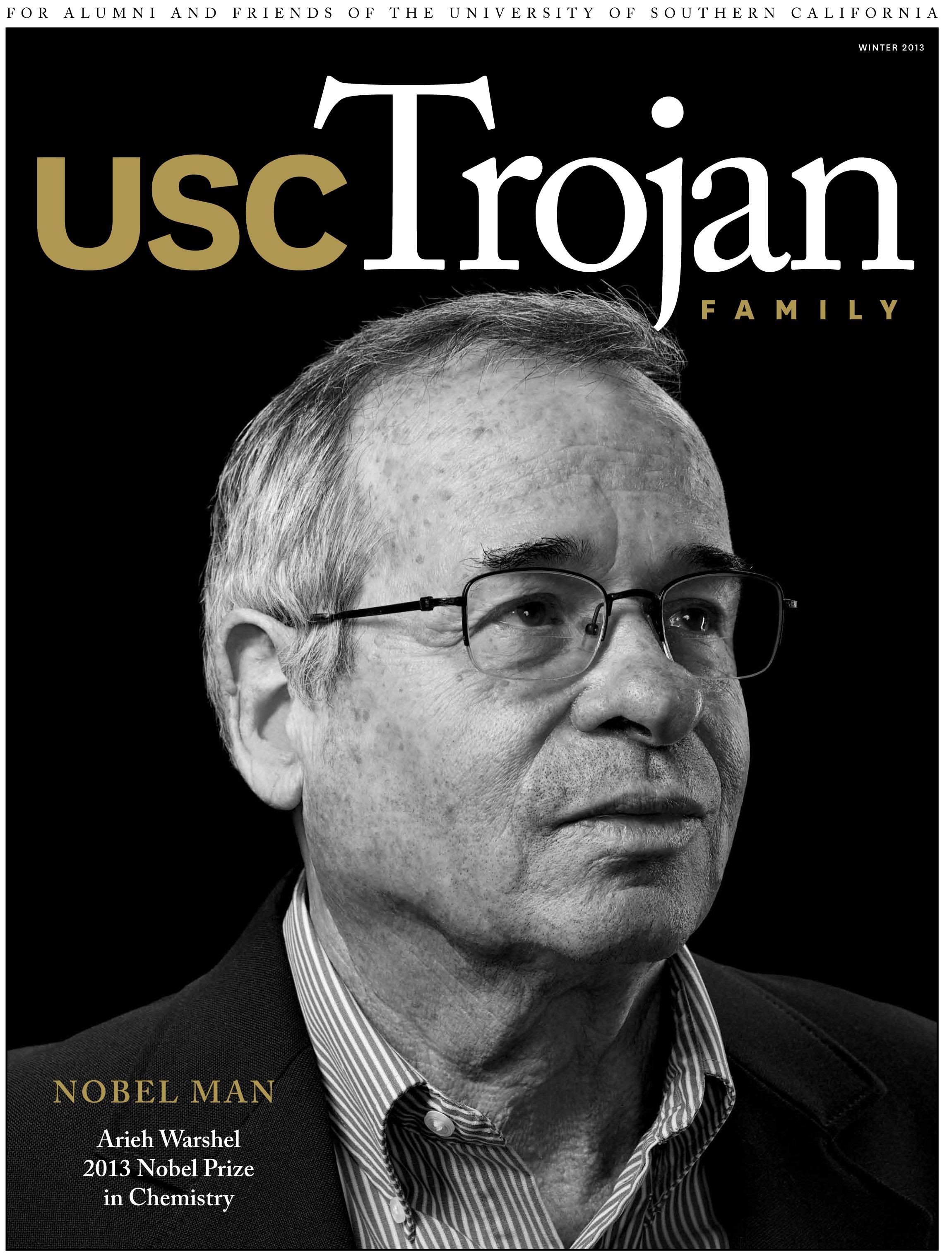 Winter 2013 Trojan Family Magazine cover