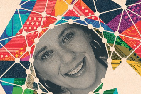 Andrea Belz, director of Innovation Node–Los Angeles. Illustration by Lincoln Agnew.