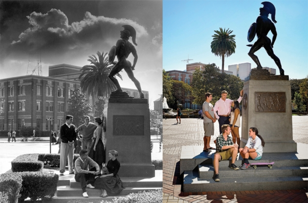 Then and now Tommy Trojan