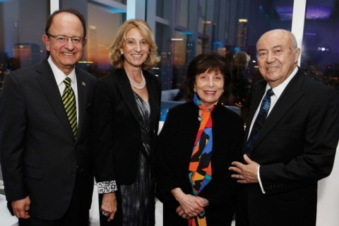 C. L. Max Nikias and Niki C. Nikias with Erna and Andrew Viterbi at the 10th anniversary of the Viterbis' engineering school naming gift. Photo by Steve Cohn.
