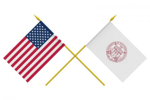 Flags, USA and USC