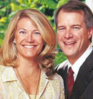 Mary and Mark Stevens. Photo by Mark Boster/Los Angeles Times