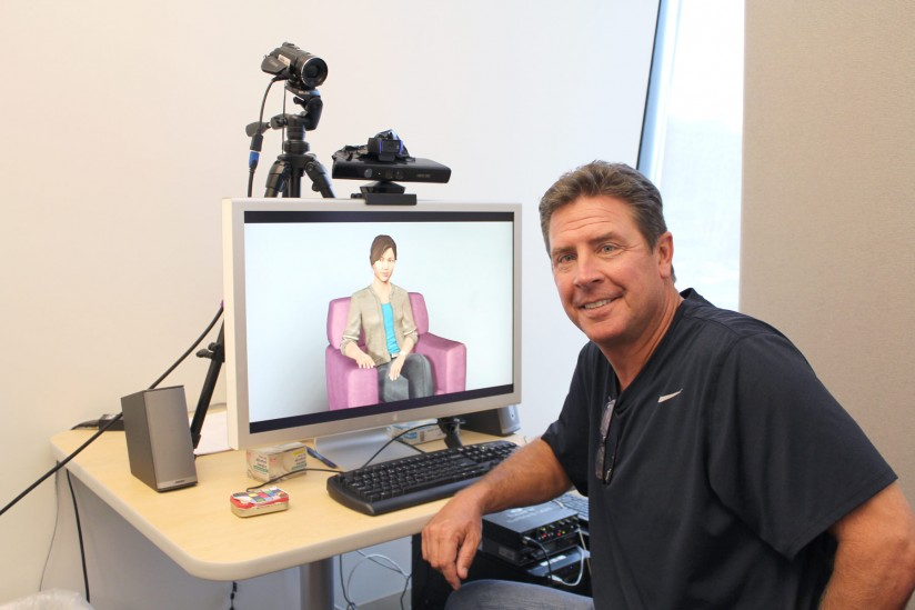 Dan Marino with virtual human