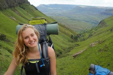 Adrienne hiking