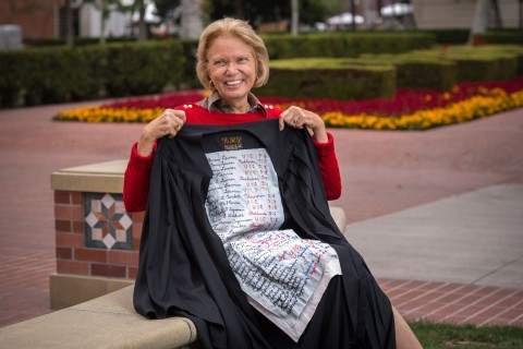 100-year-old graduation robe