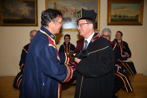 Nikias receiving honorary degree