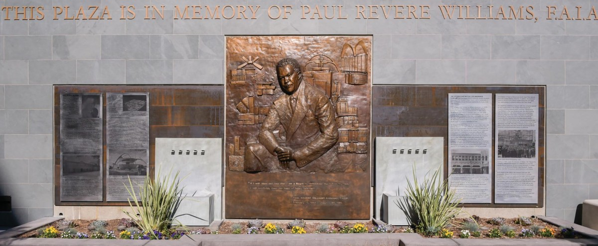 Paul R. Williams Bronze Memorial (USC PHOTO/GUS RUELAS}