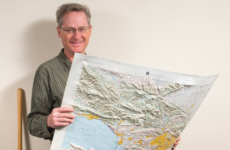 James Dolan was part of the team that identified what may be LA's gravest seismic threat: the Puente Hills blind thrust fault. | PHOTO BY GUS RUELAS