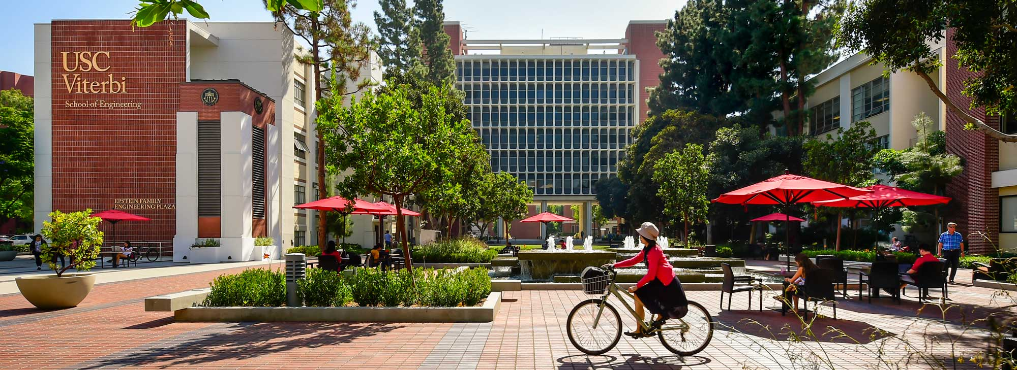 Girl riding a bike at USC