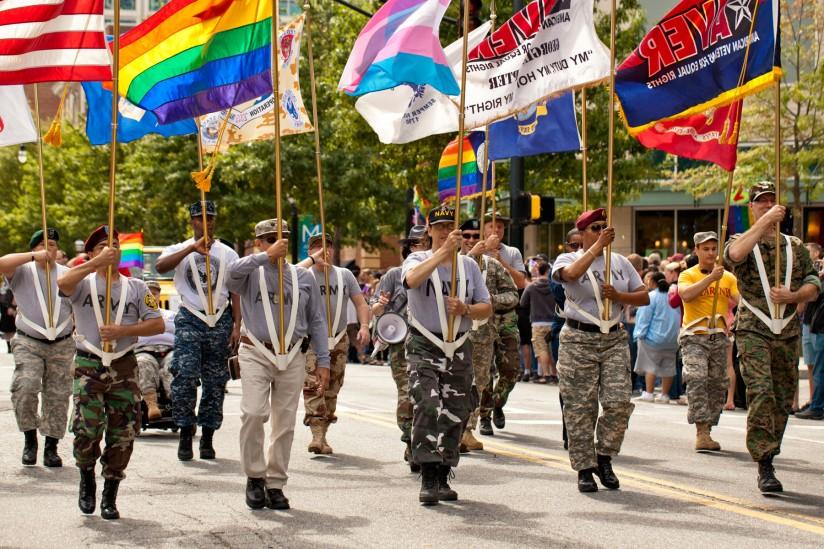 military at pride