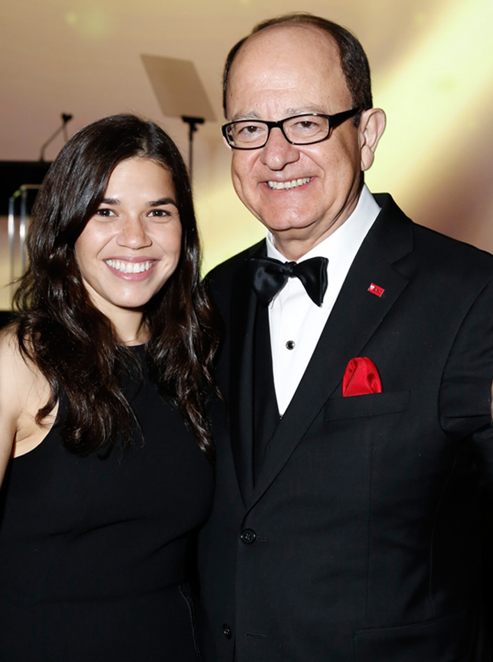 Max Nikias and America Ferrera