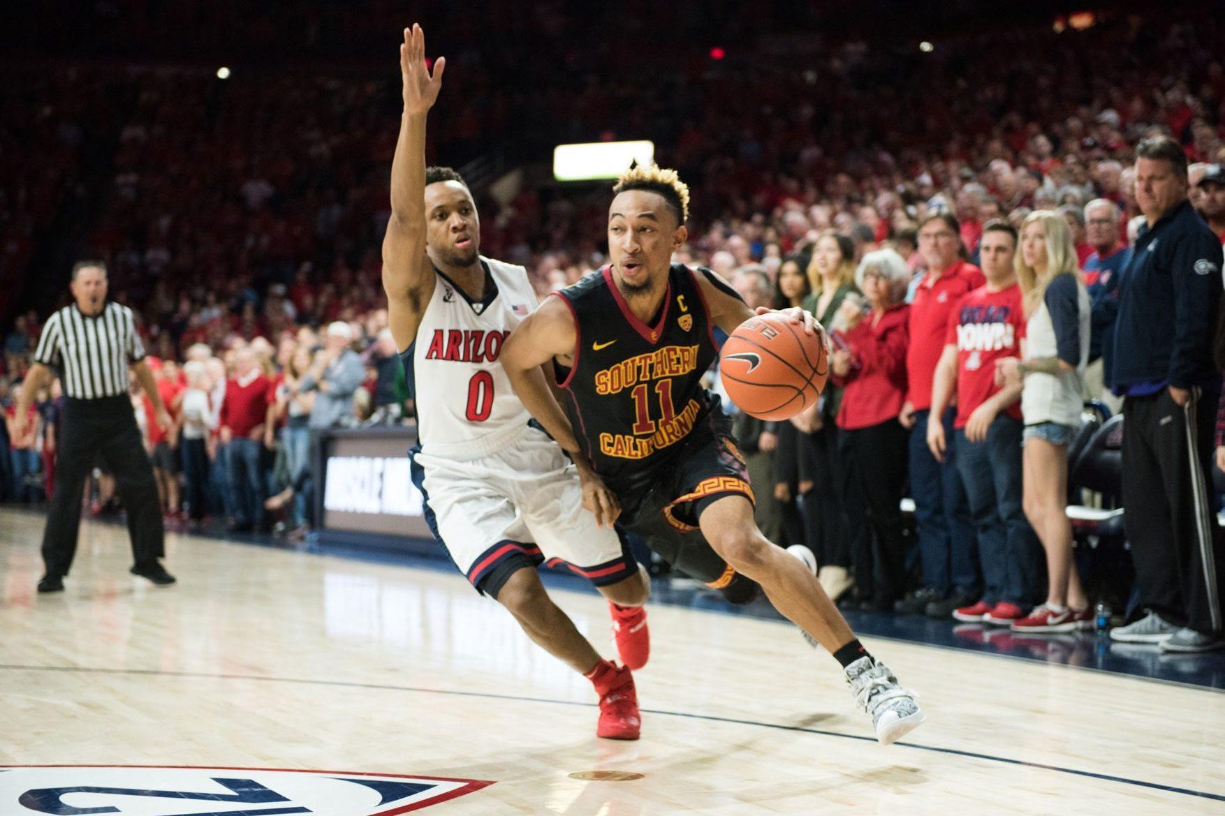 Subir y bajar emoción Samuel  Meet Jordan McLaughlin, the Heart of USC Basketball's Turnaround ...