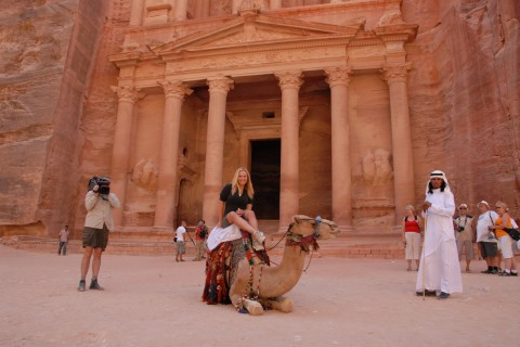 Camel in front of Petra, Jordan