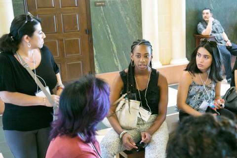 Pre-doctoral workshop students of color