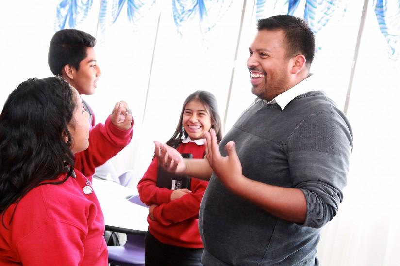 Teacher Victor Gonzalez