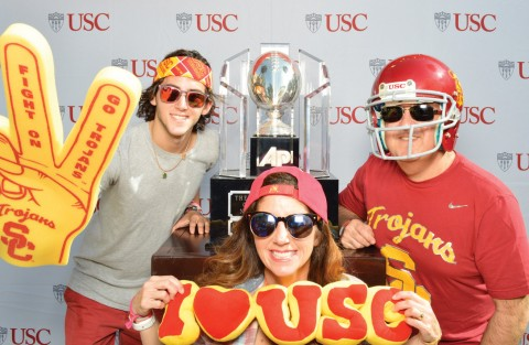 Group photo from Trojan Family Weekend