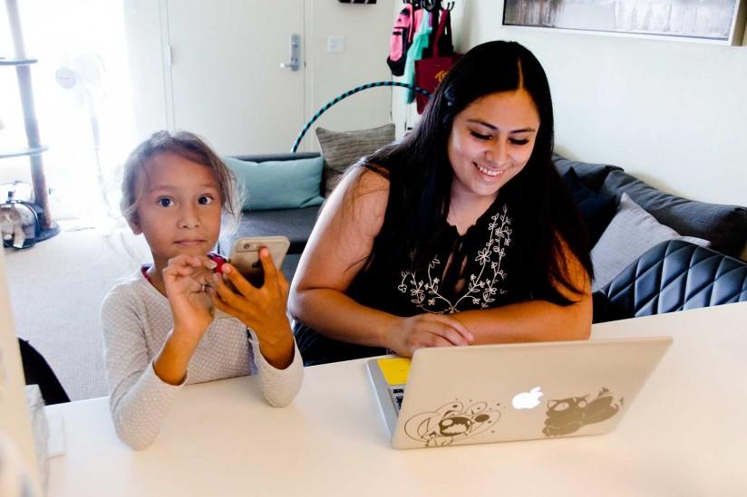 Lucero and daughter Aurora