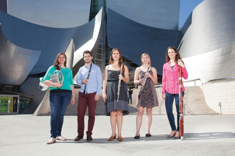 Scholarship Woodwind Quintet members