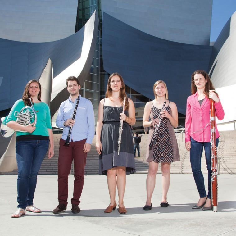 Scholarship Woodwind Quintet members