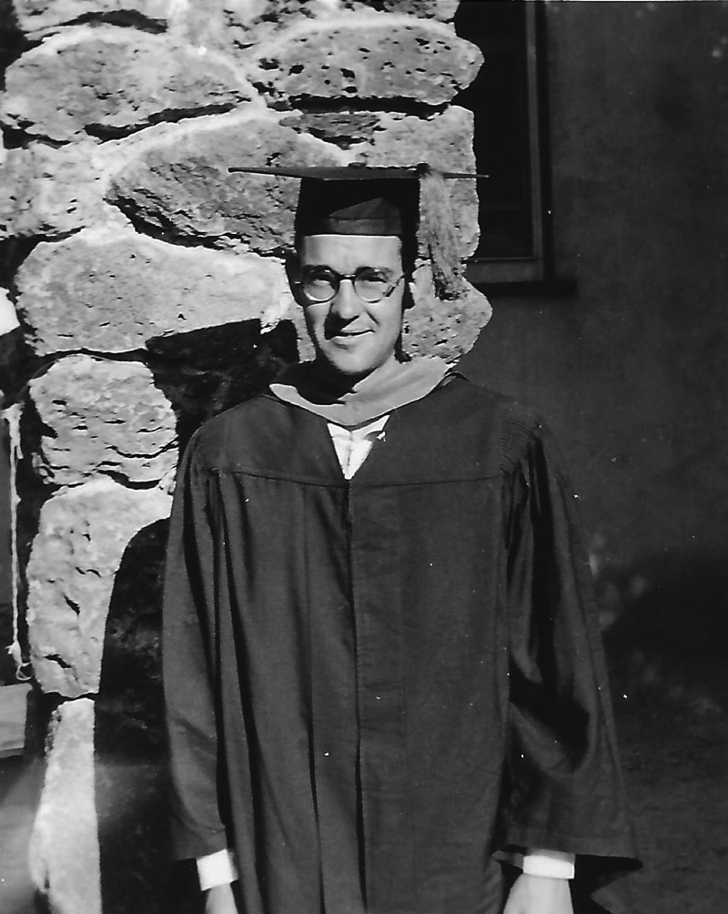 Harry Wolf earned his doctorate in 1953. | PHOTO COURTESY OF THE WOLF FAMILY