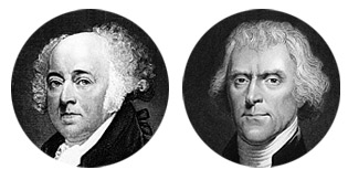 John Adams versus Thomas Jefferson