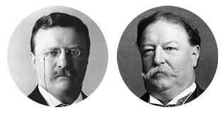 Teddy Roosevelt versus William Howard Taft