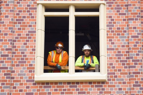USC Village Construction Workers