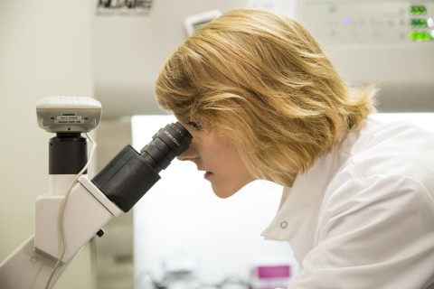 Samantha McBirney microscope