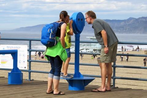 Family at the Santa Monica pier