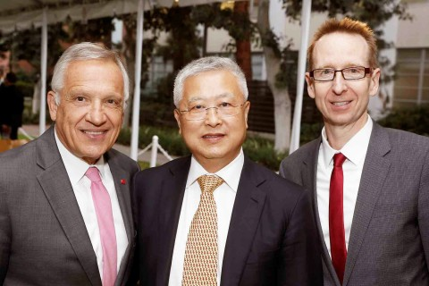 Yannis Yortsos, Ming Hsieh and Michael Quick