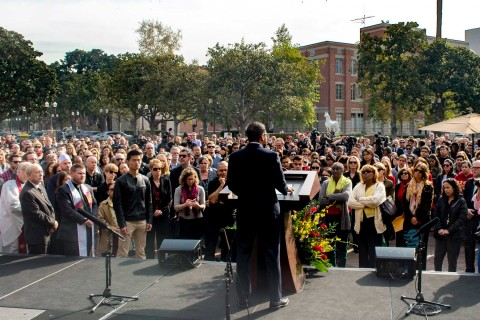 Memorial Service for Bosco Tjan at Tommy Trojan