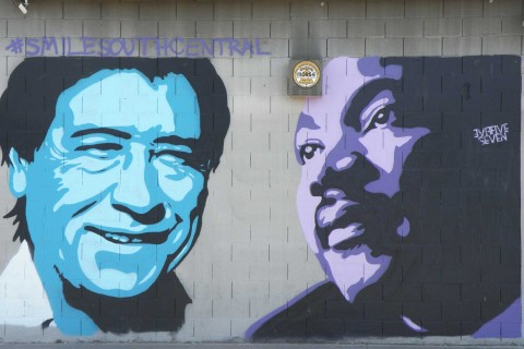 Chavez and King mural in South LA