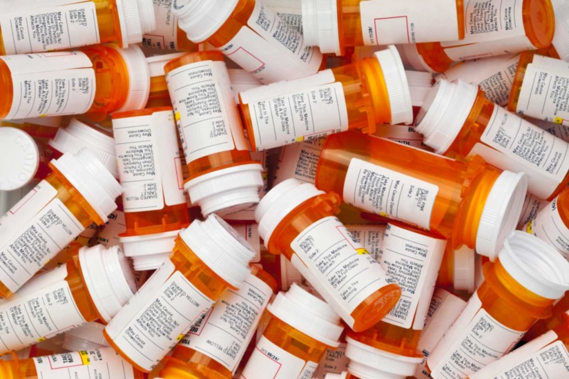 many prescription bottles