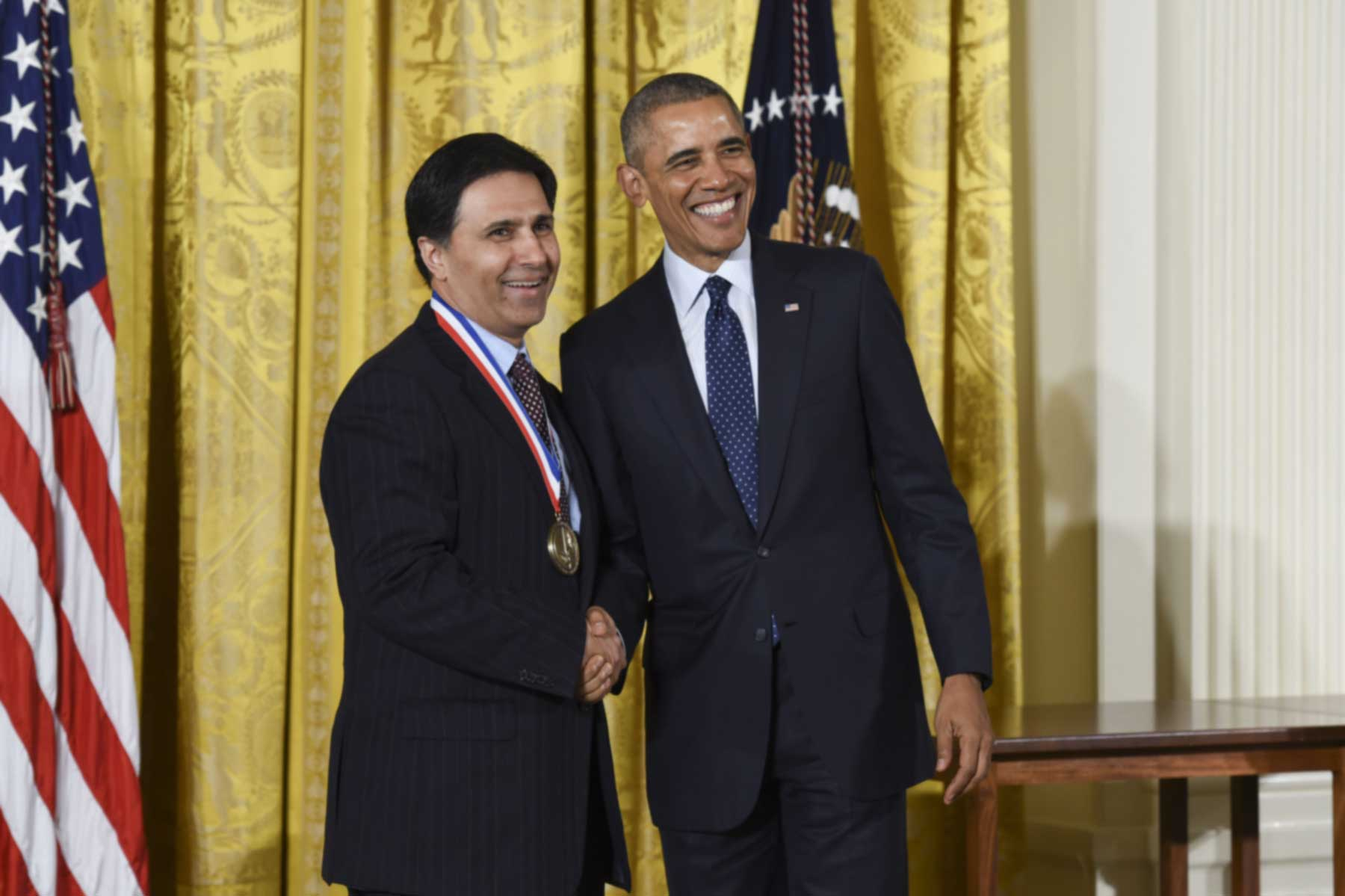 Mark Humayun and President Obama