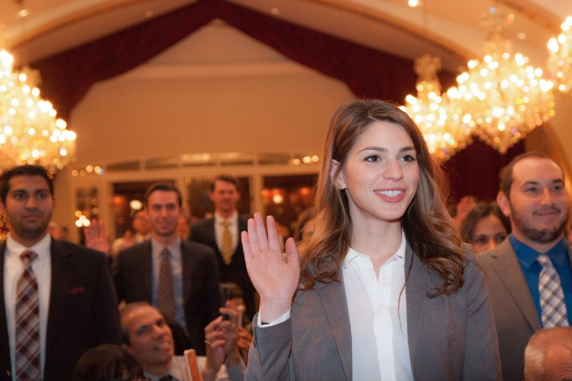 Rayan Naouchi takes her oath as a lawyer