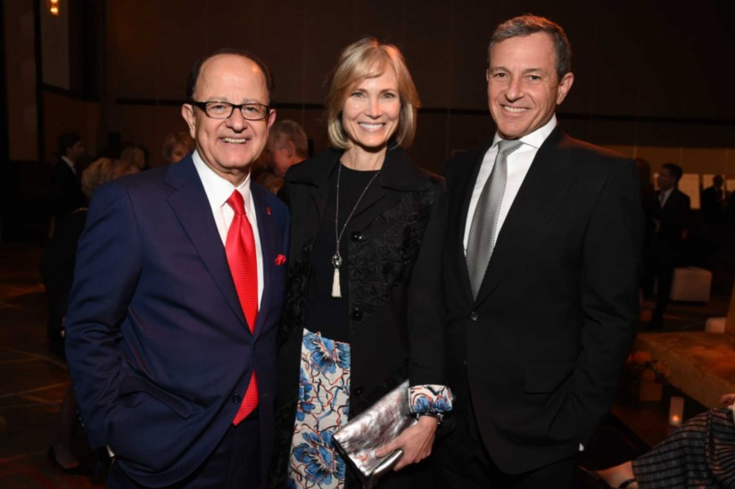 C. L. Max Nikias, Willow Bay and Robert Iger