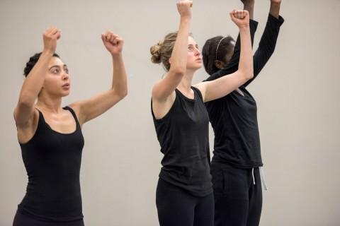 movement class dancers