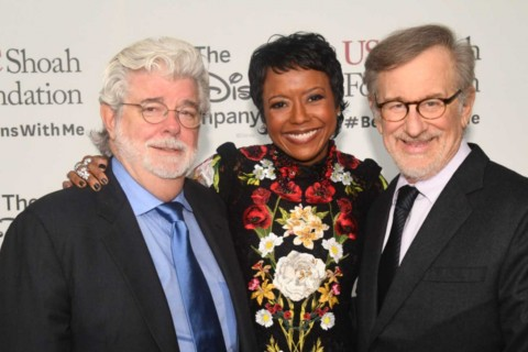 George Lucas, Mellody Hobson and Steven Spielberg