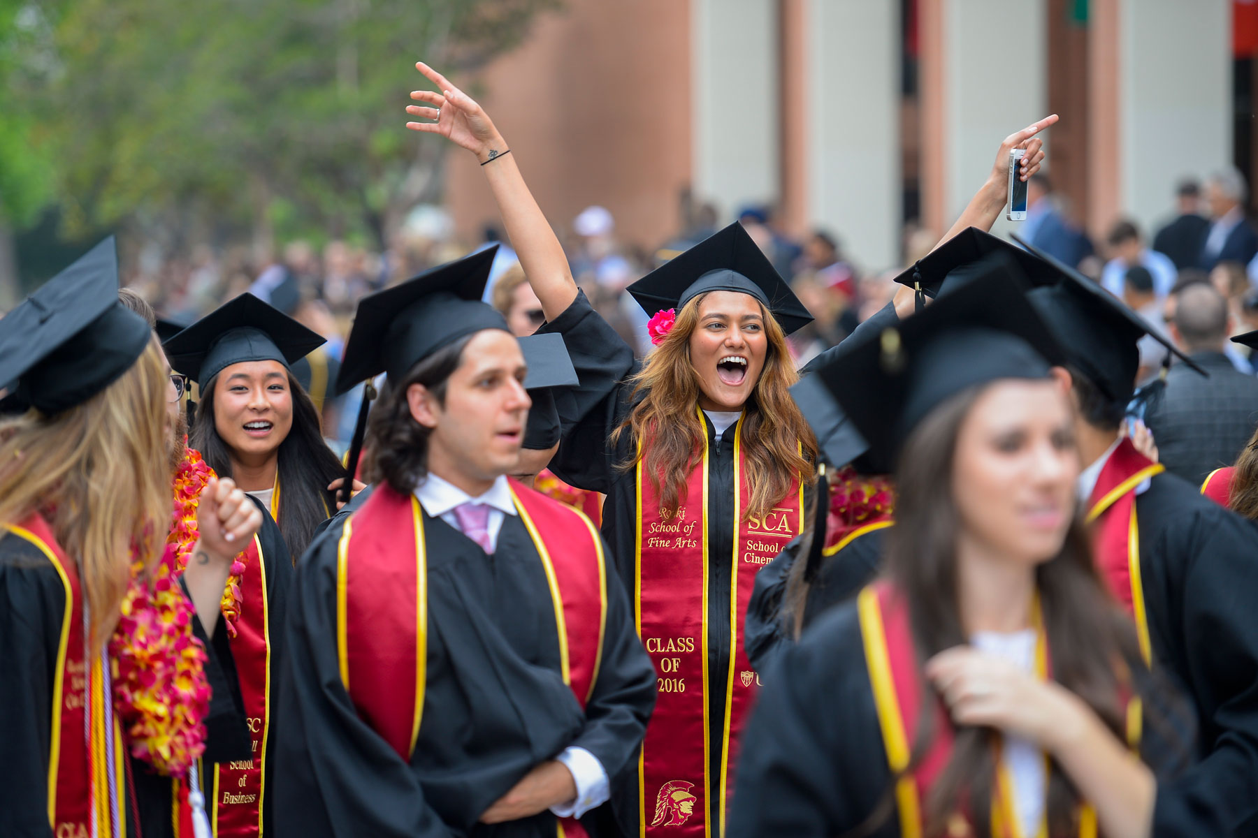 grads at commencement